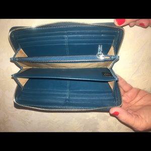 Teal Coach Accordion Wallet